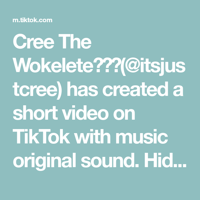 Cree The Wokelete Itsjustcree Has Created A Short Video On Tiktok With Music Original Sound Hidden Facts Part 1 Like The Originals Draco Malfoy Music