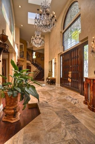 Traditional Entryway With 24 X 12 Polished Marble Tile