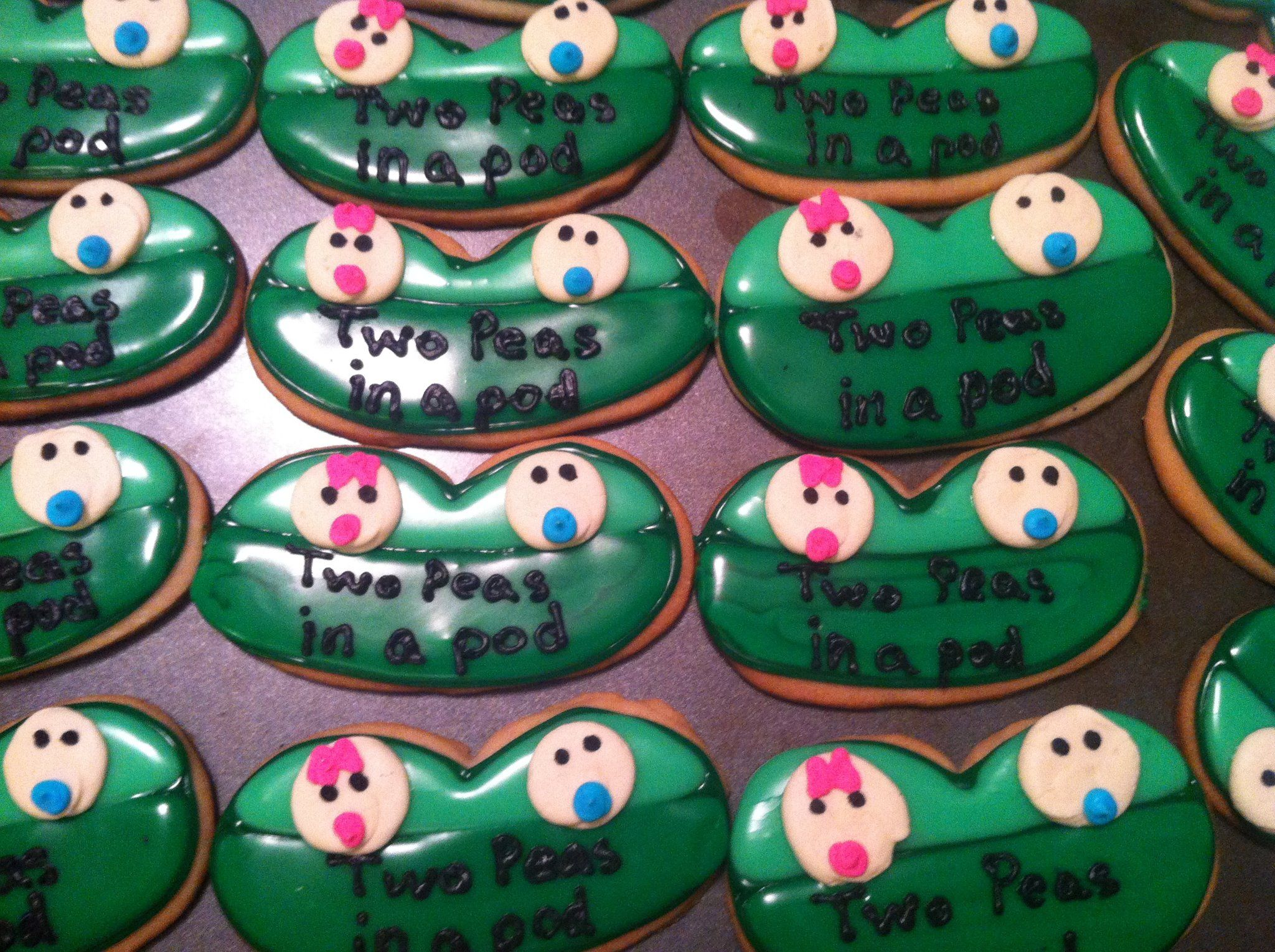 Two Peas in a Pod cookies