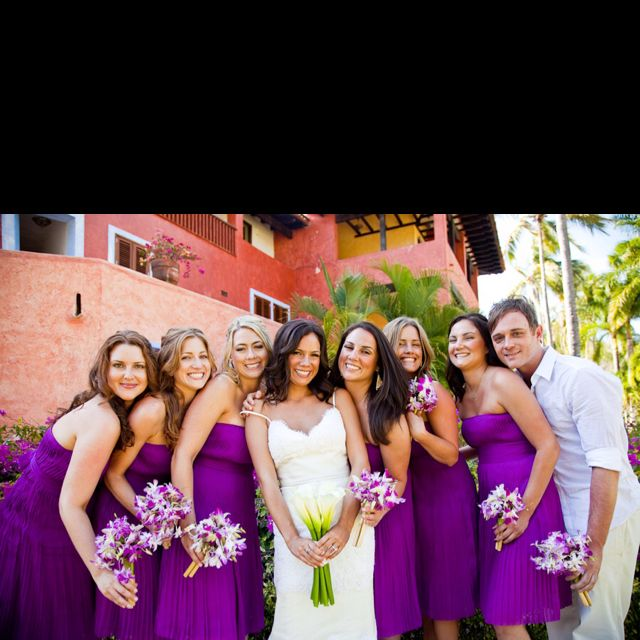 Omg I Love The Flowers And The Color Of These Dresses!