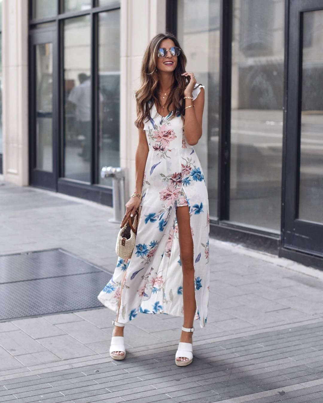 Say No To Wardrobe Malfunctions When You Have Shorts Built In Under Your Maxi Dress This Cute Combo Dress Is Under Maxi Dress Combo Dress Dresses [ 1350 x 1080 Pixel ]