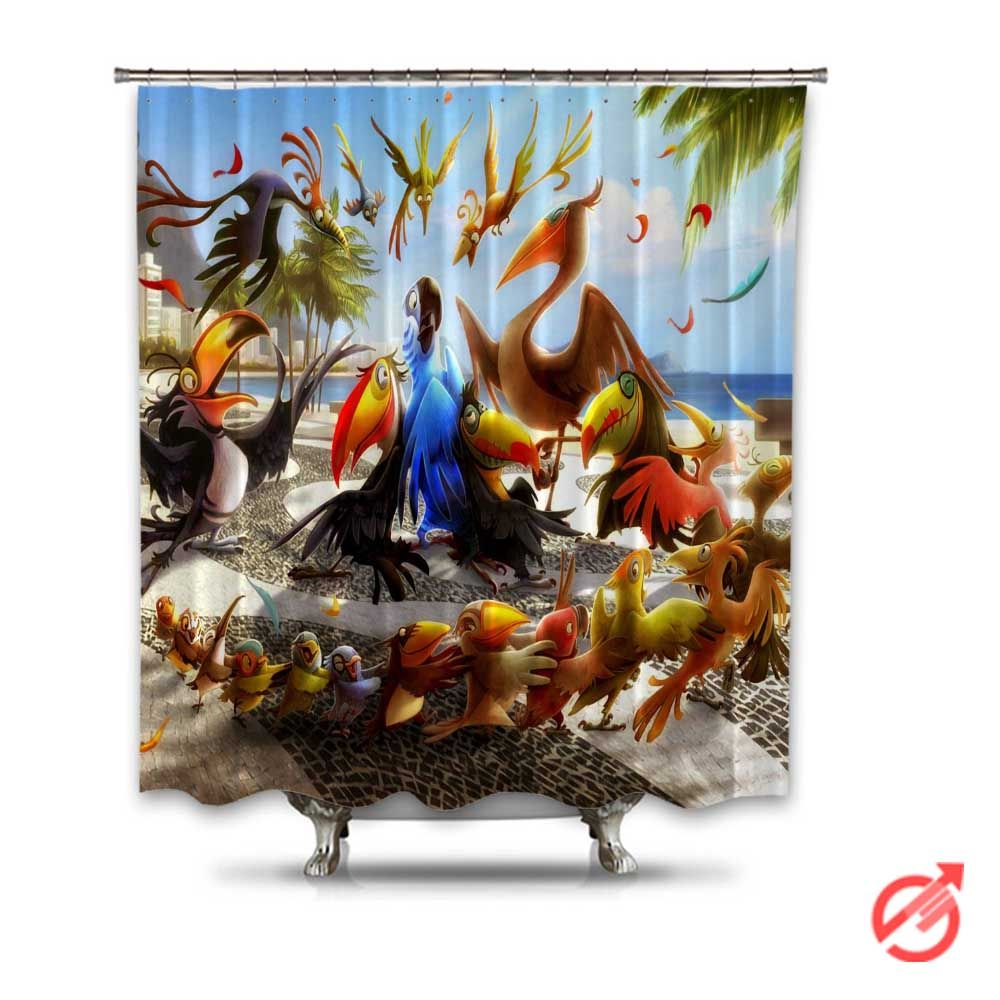 rio movie let me take you to rio shower curtain | cheap shower