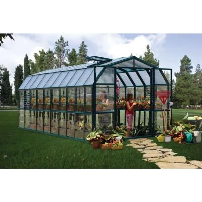 Rion Prestige 8 Ft X 20 Ft Clear Greenhouse 702507 The Home Depot Polycarbonate Greenhouse Greenhouse Greenhouse Kit
