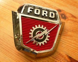 LQQK 1957 1958 Genuine Ford F 100 Truck Hood Emblem Vintage