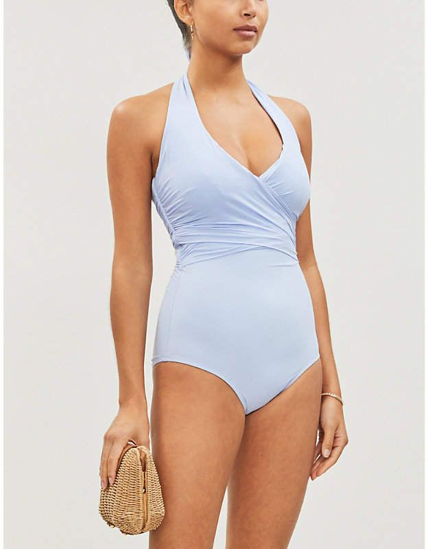 1cf93470be Heidi Klein Body Light wrap-effect halterneck swimsuit in 2019 ...