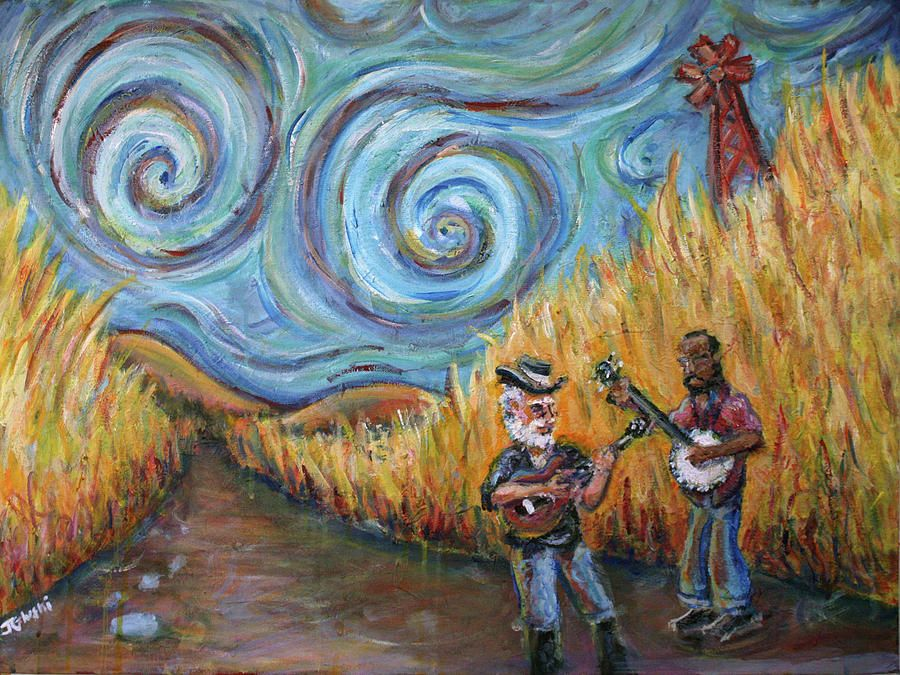 Country music revisited painting art artwork