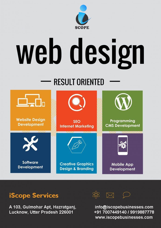 Iscope Services Is The Best Website Design Development Company In Lucknow Fun Website Design Website Design Website Design Company