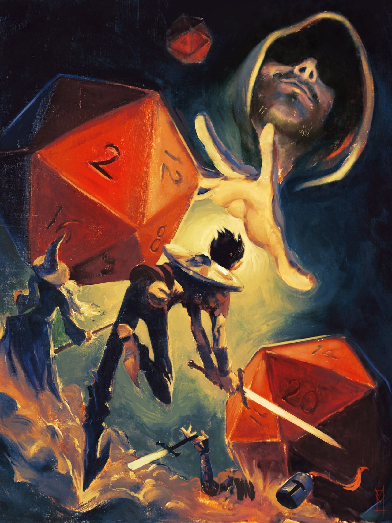 victormaury:  the Dungeon Master ©Victor Maury2013, Oils/Digital blog / da / prints