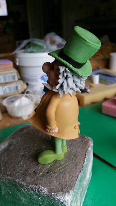 Fondant Mad Hatter Cake Topper