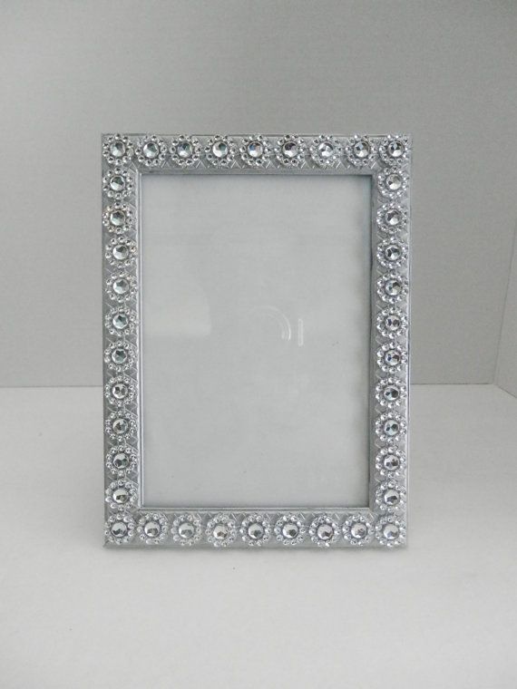 Wedding picture frame, 5x7 and 4x6 silver wedding picture frame ...