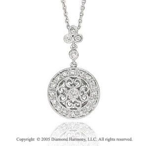 14k diamond pave white gold art deco style pendant necklace 14k diamond pave white gold art deco style pendant necklaceybe something like mozeypictures Image collections