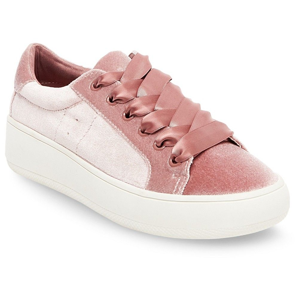Women's Tara Velvet Lace Up Sneakers Shoes Mossimo Supply Co Pink Choose Size