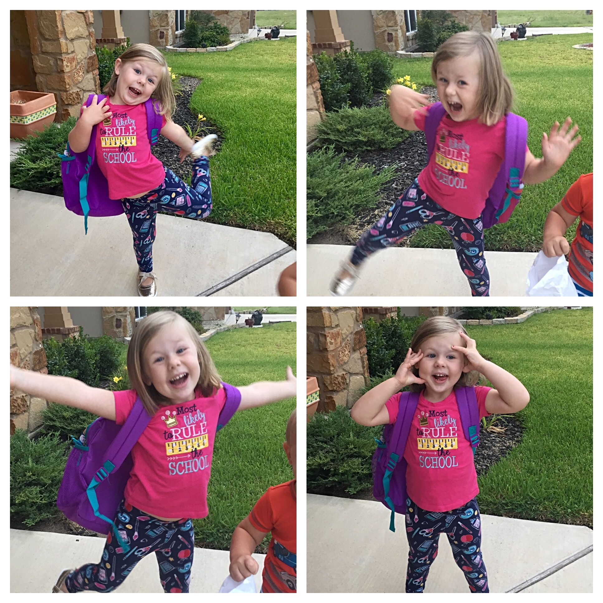 Our Granddaughter Brinley and her first week of school.
