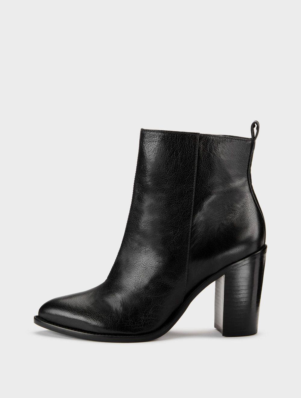 Houston Glazed Leather Ankle Boot