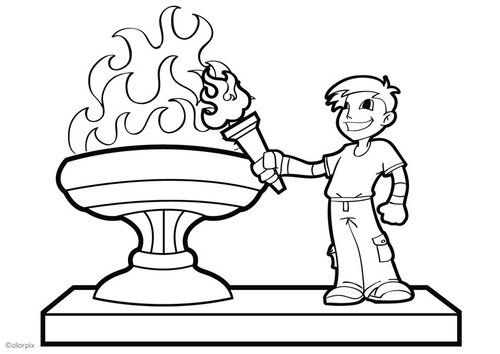 Dibujo para colorear llama olímpica | Olimpiadas | Pinterest | Llama ...