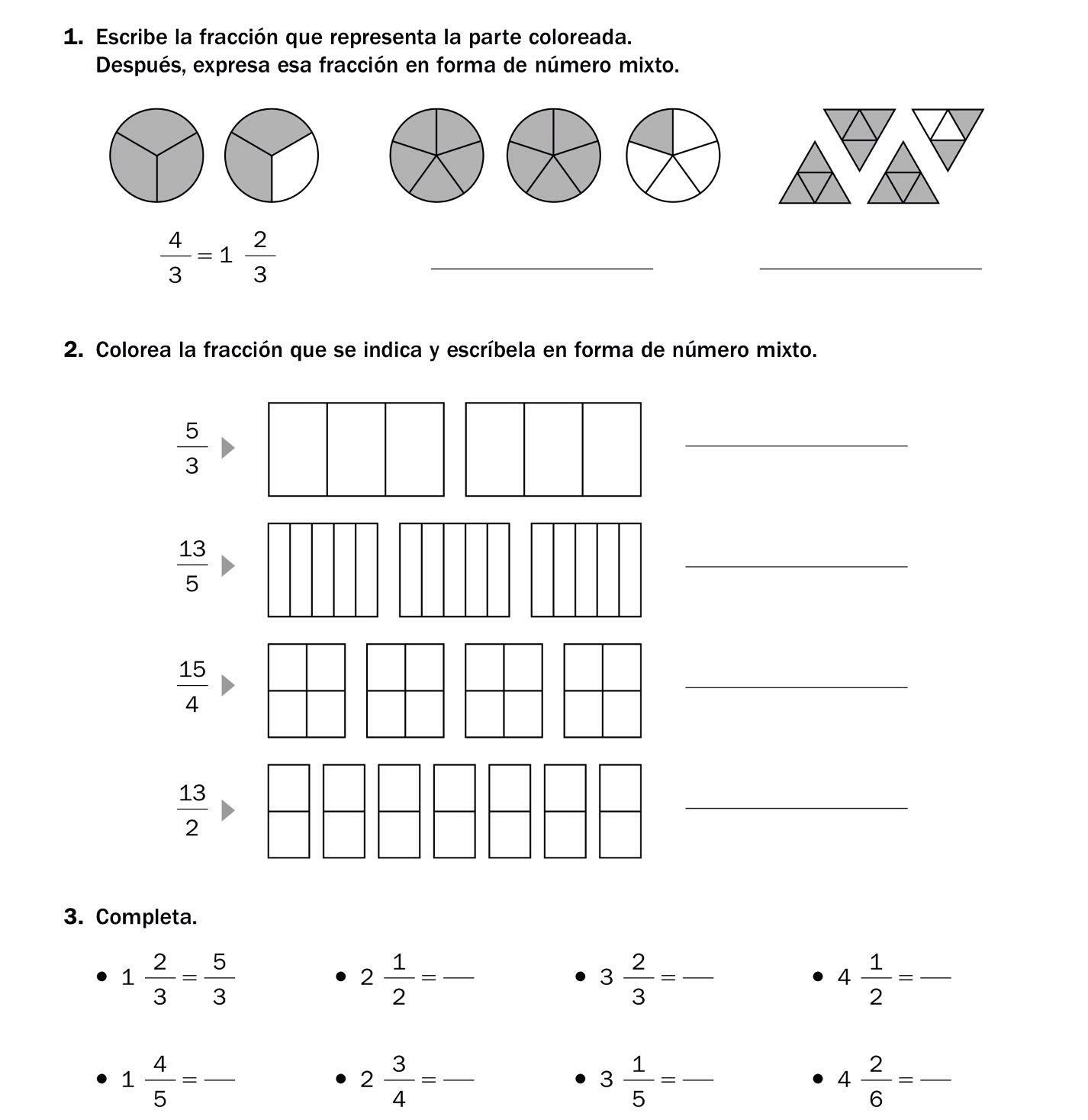 operaciones combinadas de fracciones para primaria - Buscar con ...