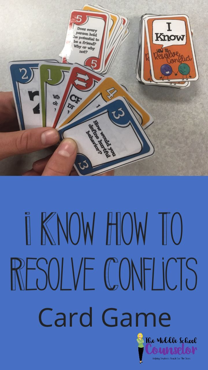 Conflict Resolution Card Game Conflict resolution