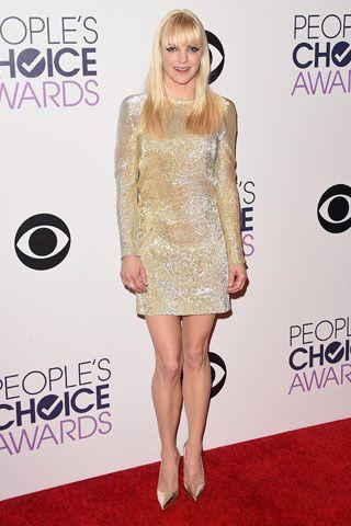 Si Y No La Red Carpet De Los People S Choice Awards Anna Faris People S Choice Awards Girl Celebrities