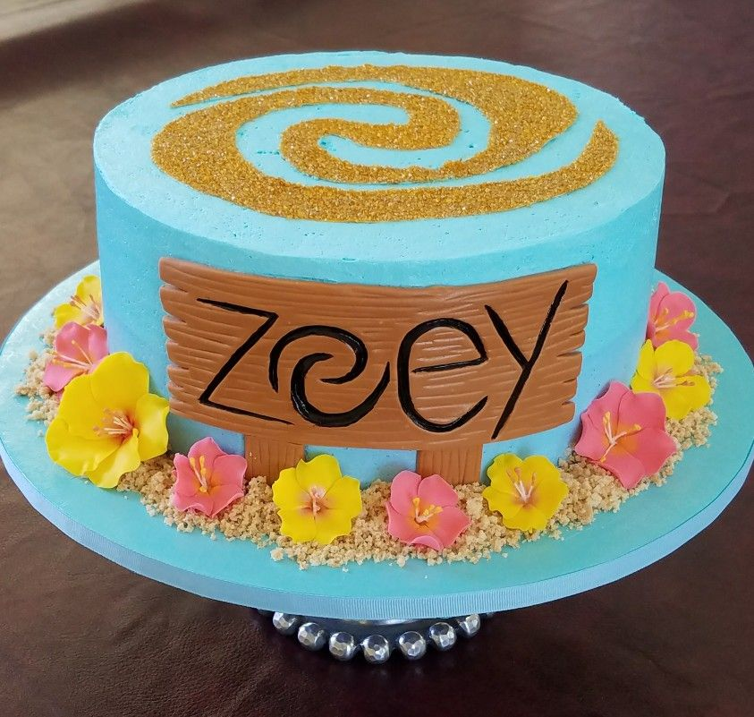 Moana Theme Birthday Cake Baking Fun Pinterest Moana Birthday