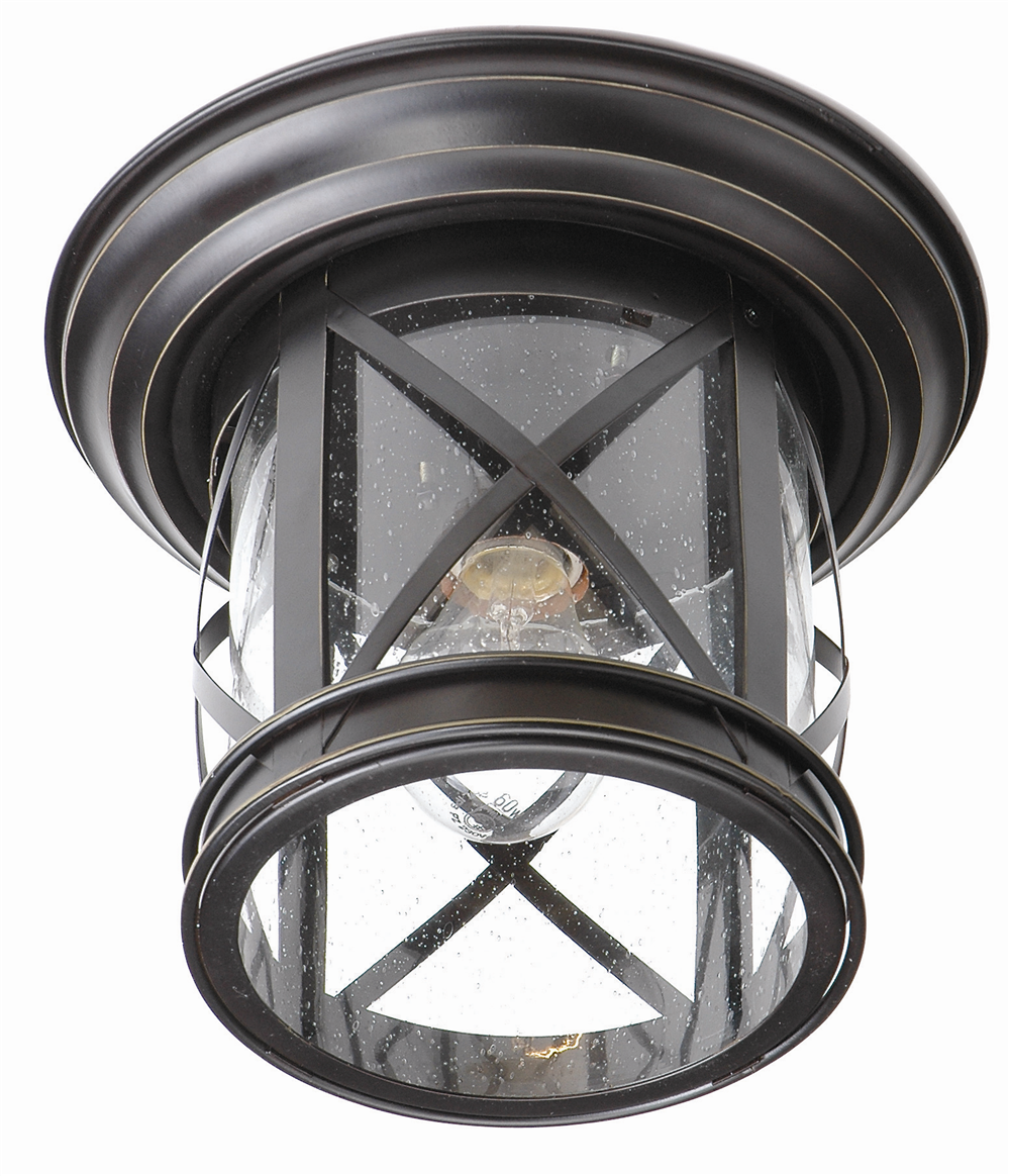 Outdoor porch lamp - Trans Globe Lighting 5128 New England Coastal 11 Outdoor Flush Mount Ceiling Light