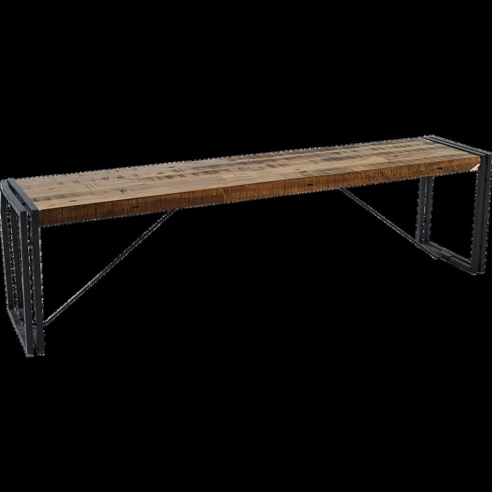 Banc en bois et métal - L167cm - OSCAR - tabourets et bancs - alinea   Banc bois, Bois metal, Bois
