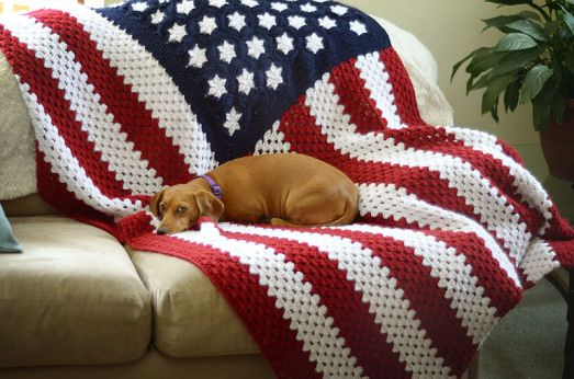 American Flag Crochet Afghan No Pattern But Great Idea Crafty