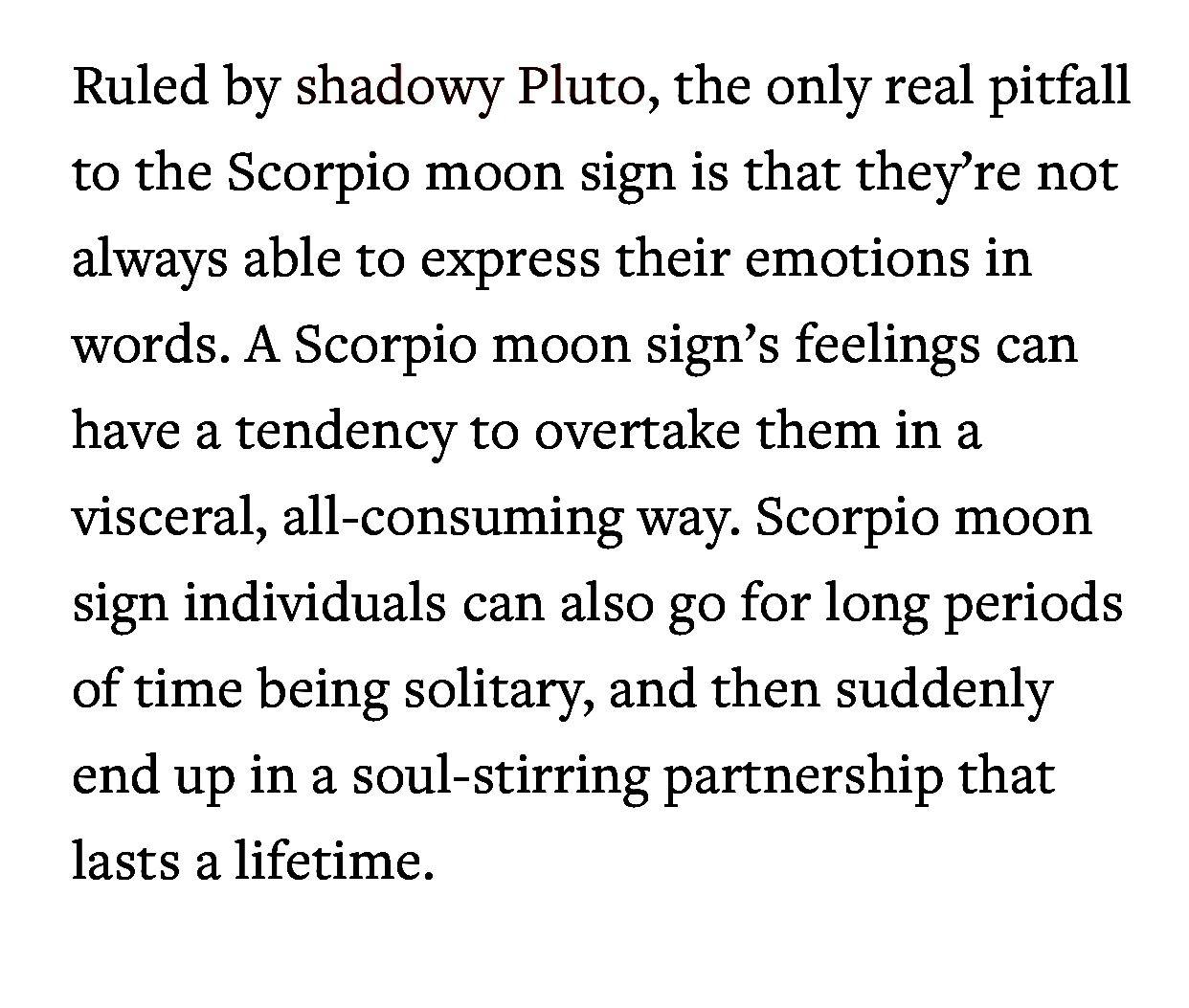 Moon in Scorpio Pluto conjunct the ascendant | Sun in Leo