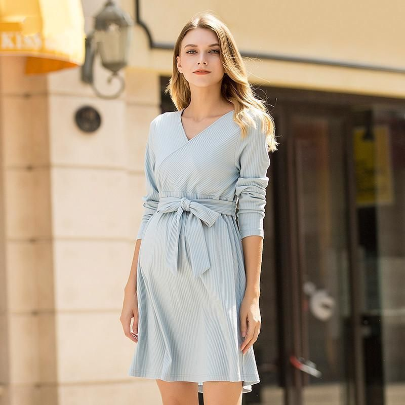 78246f8c5cb5f Maternity Dresses Pregnant Women Summer Clothing Gown Output Wear Short  Sleeve