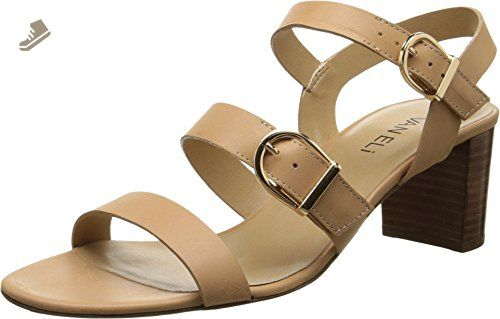 Womens Shoes Vaneli Maryjo Natural Bulgaro/Gold Buckles
