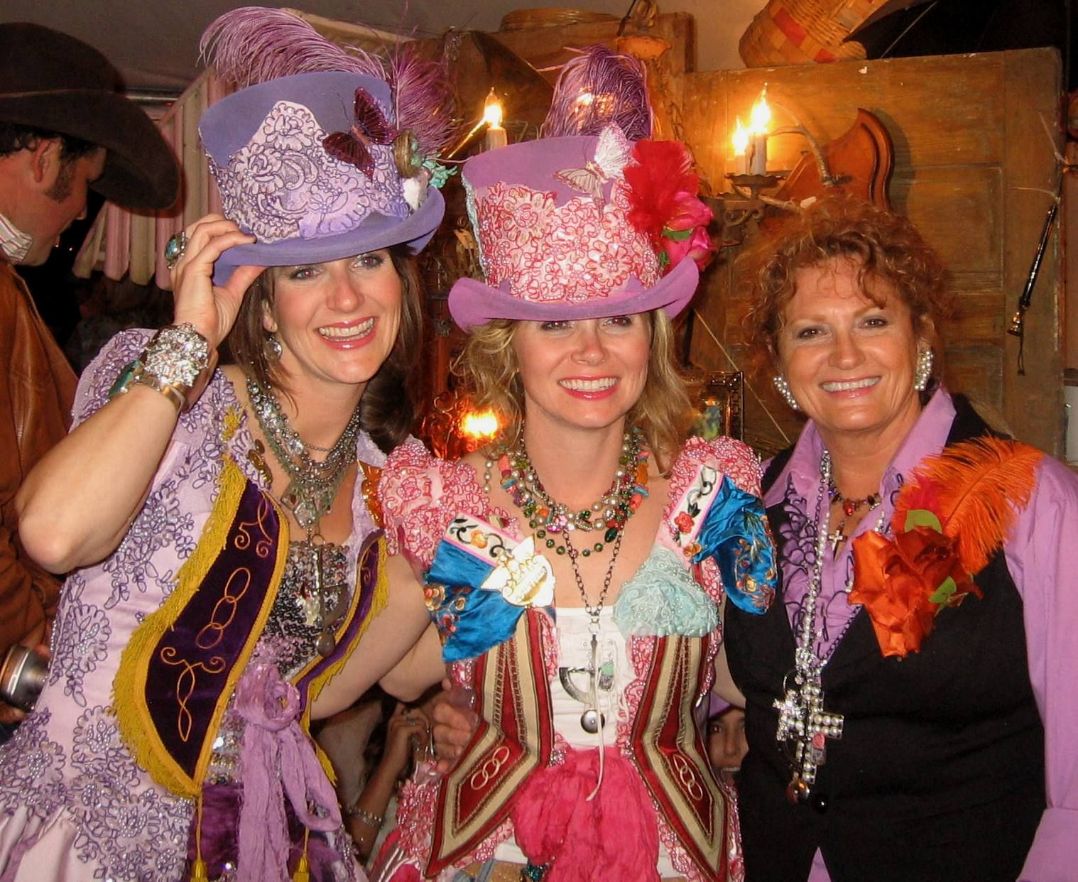 The Junk Gypsy girls at the Cowgirl Prom,    Round Top, Texas.