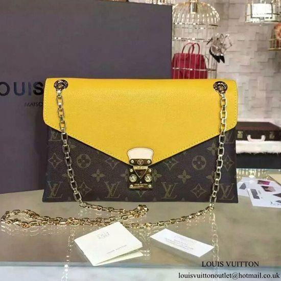 46bbe04d2fa8 Louis Vuitton M41246 Pallas Chain Shoulder Bag Monogram Canvas ...