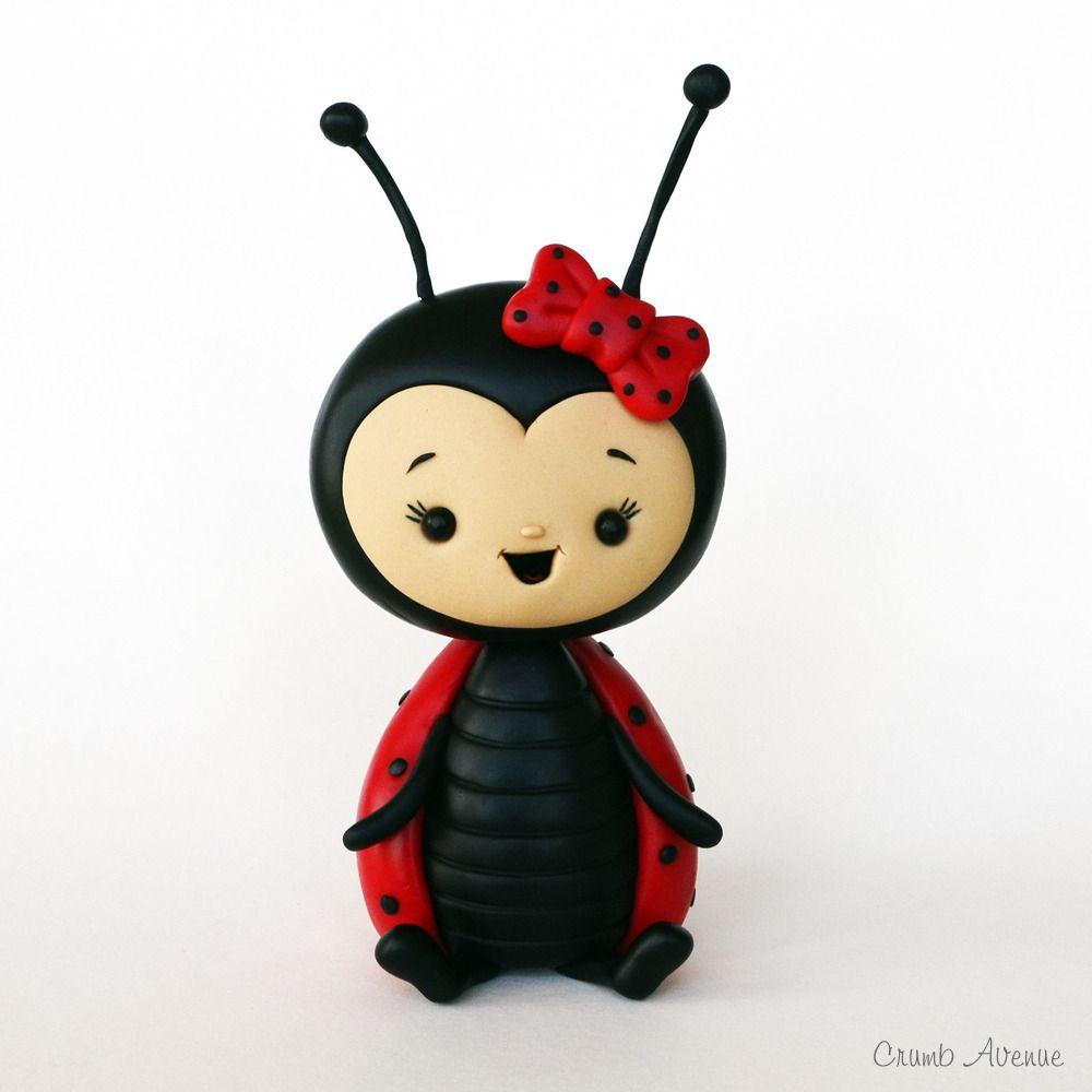 Ladybug tutorial   Projekter, jeg vil prøve   Pinterest   Fimo, Barnedåb og Ideer