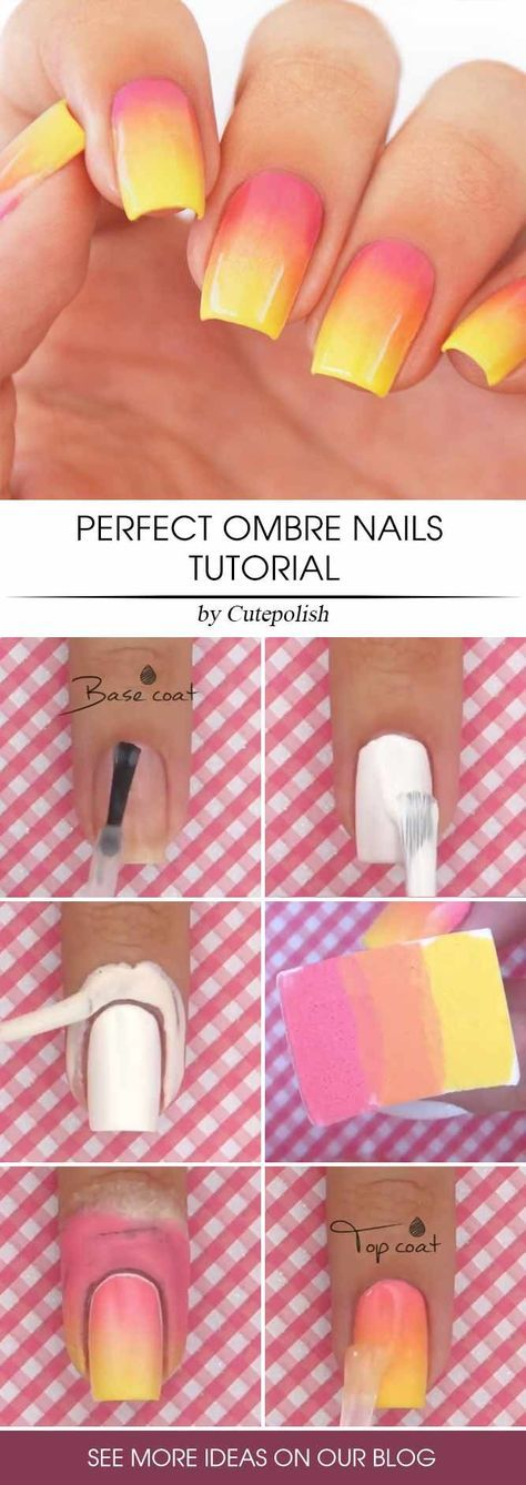 36 Glam Ideas For Ombre Nails Plus Tutorial Hair Pinterest