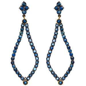 Blue Sapphire Teardrop Earrings
