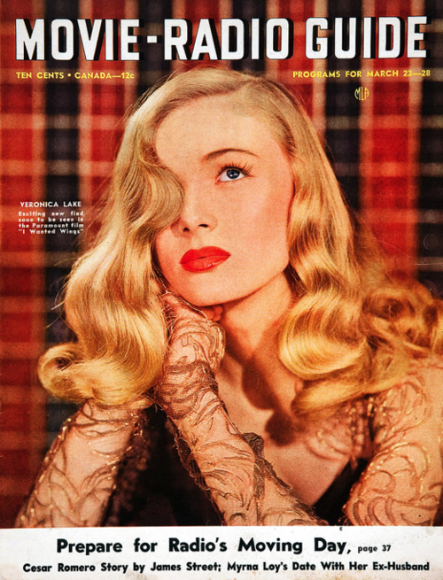 Veronica Lake, March 1941 Movie-Radio Guide magazine