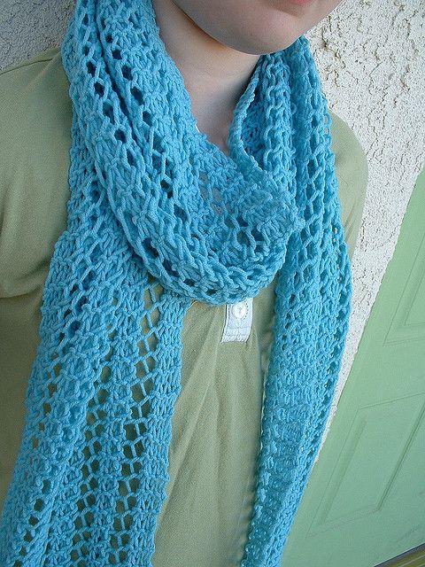 Free Pattern: One Row Lace Scarf by Turvid | Szydełko | Pinterest ...