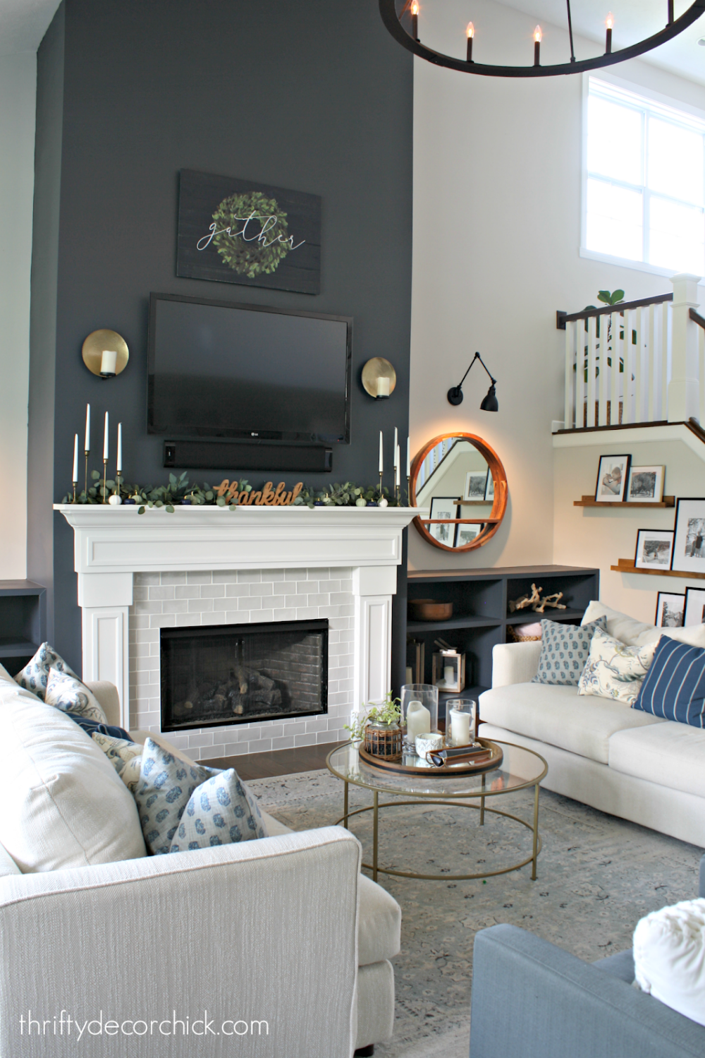 Nontraditional colors for the fall mantel | Accent walls ...