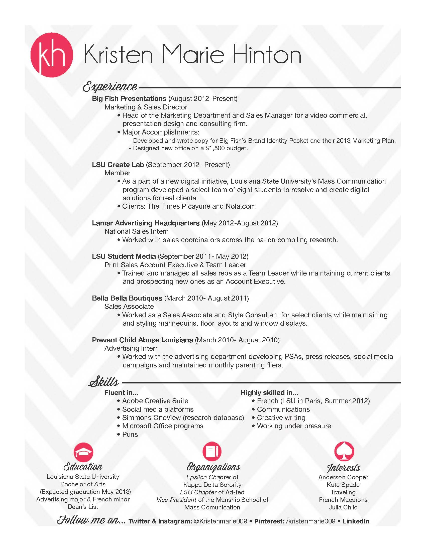 This Caught My Eye Without Being Over The Top Resume Design Simple Resume Sales And Marketing