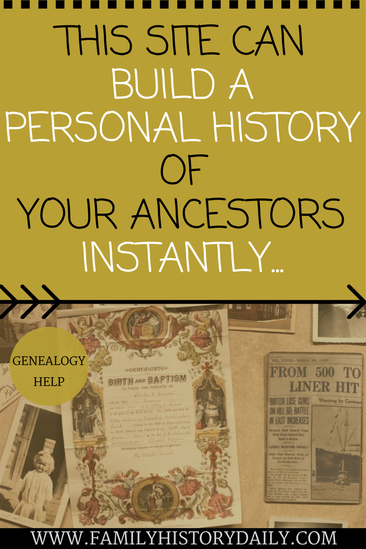 This site can build a personal history of your ancestors. Learn more about your  family · Genealogy WebsitesFree ...