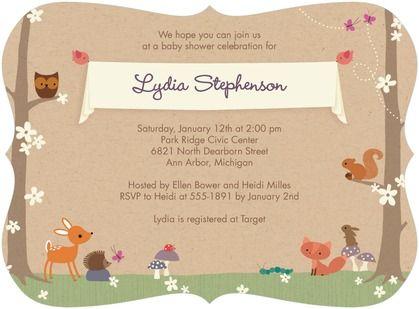 Woodland Dream Baby Shower Invitations Hallmark Nutmeg Brown