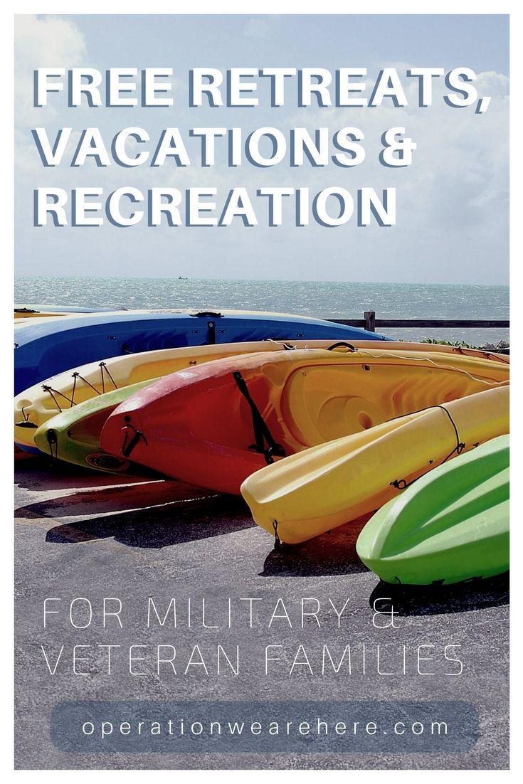 2017 Free Vacations Retreats Amp Recreation For Military And