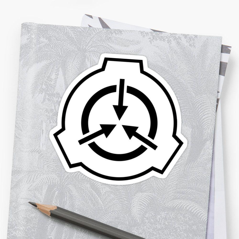 SCP Foudation Logo Black on White Sticker