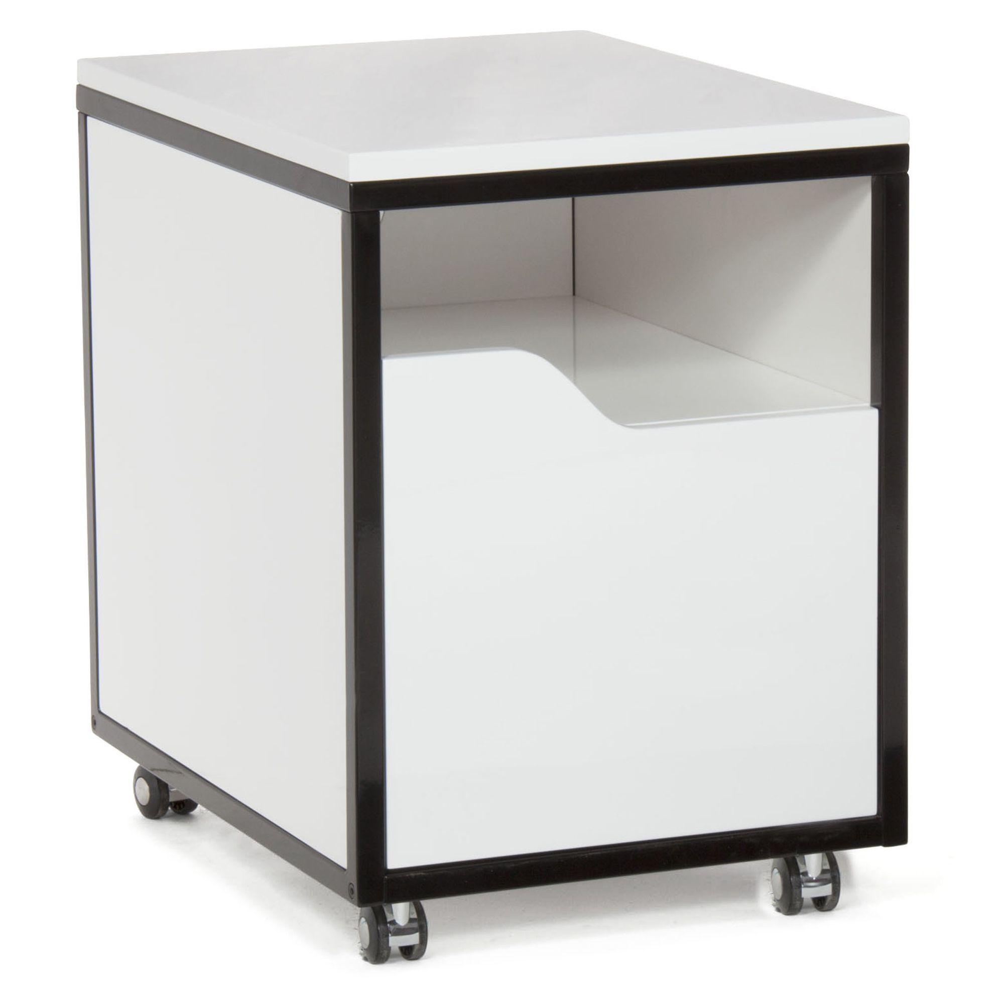 caisson roulettes pour bureau blanc noir arthur bureau les caissons les rangements. Black Bedroom Furniture Sets. Home Design Ideas