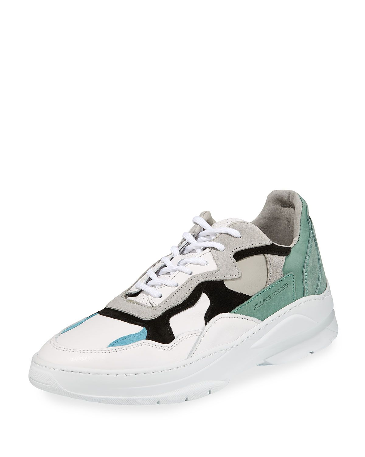 340ad14714ac FILLING PIECES MEN'S INFINITY LEATHER/SUEDE LOW-TOP SNEAKERS.  #fillingpieces #shoes