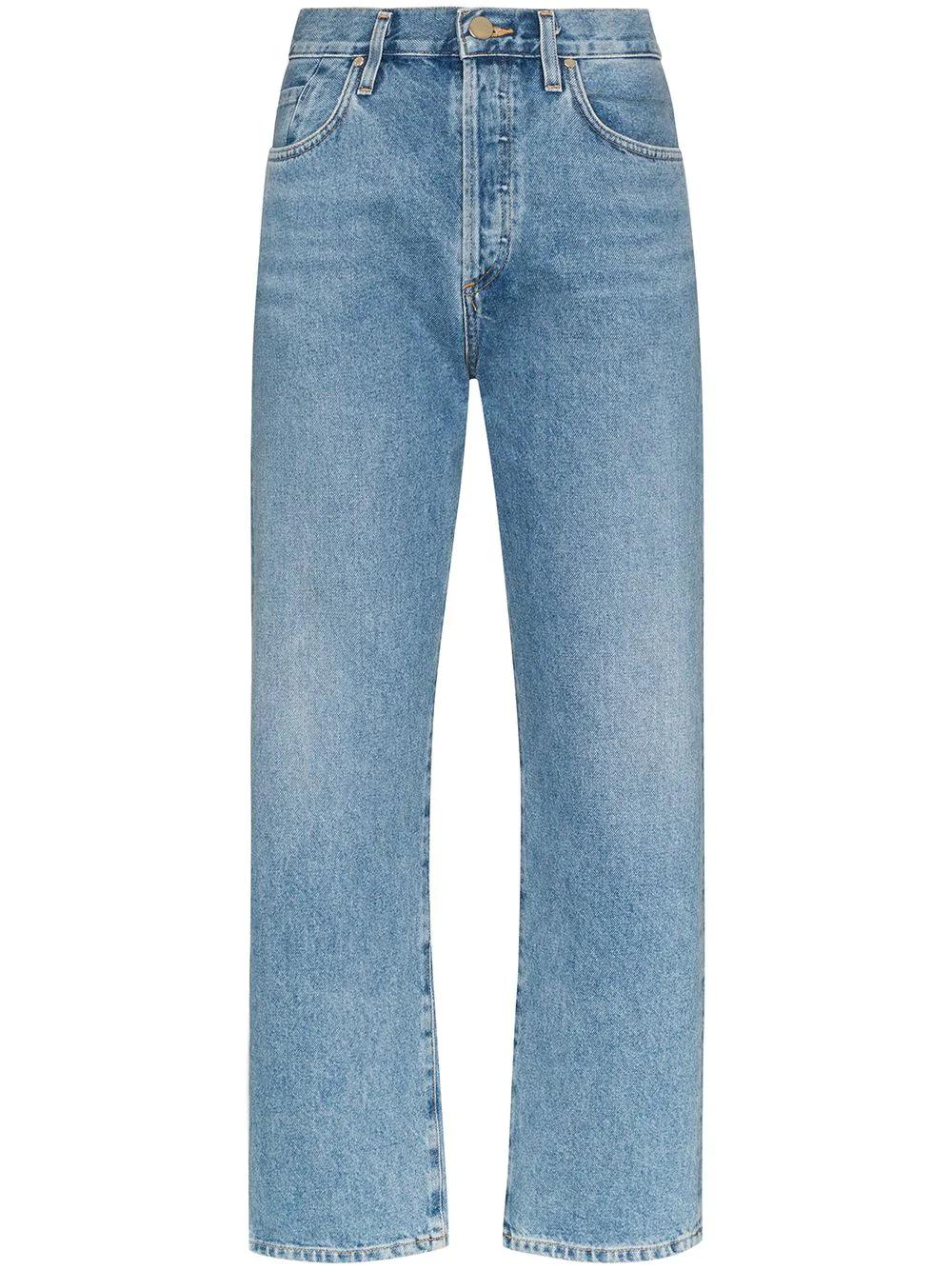 Goldsign Jeans Rectos Holgados De Tiro Medio Farfetch Jeans Rectos Ropa Ropa De Hombre