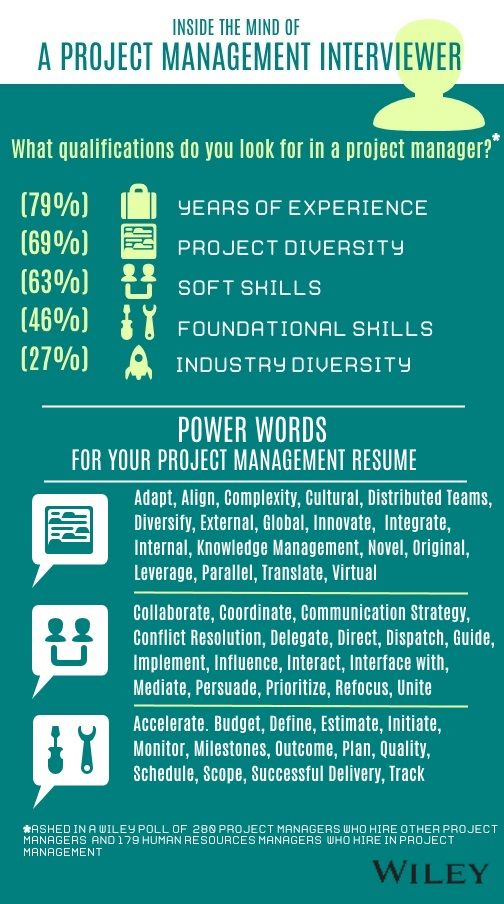 Most important skills and power words for a project management - project management resume skills