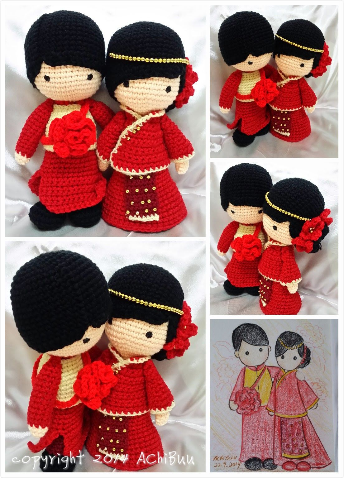 Bride and Groom - HavvaDesigns CROCHET PATTERN / Amigurumi PDF ... | 1534x1104