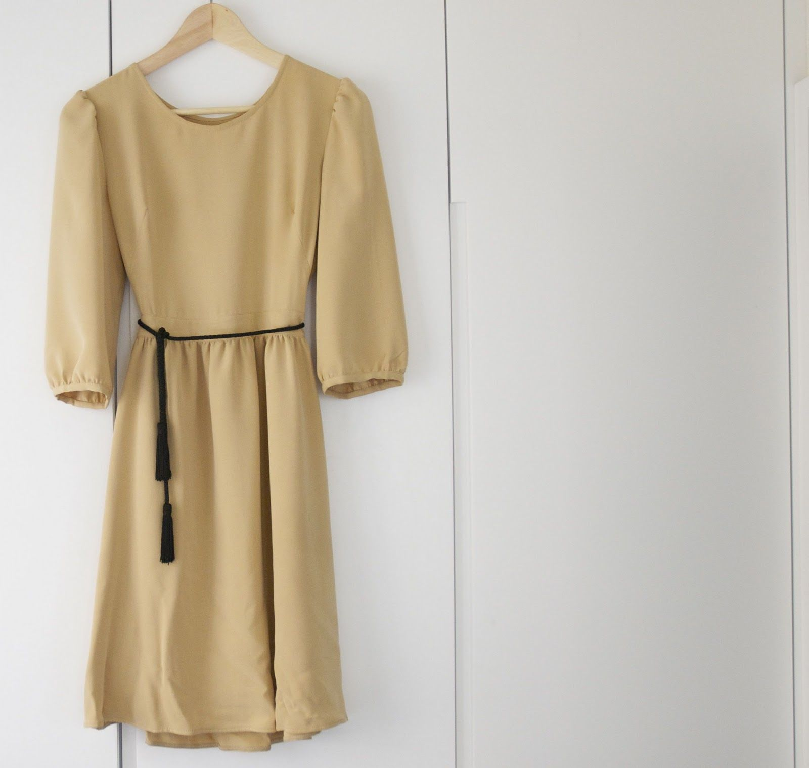 a pair and a spare . diy fashion: Wardrobe Essential - the camel dress