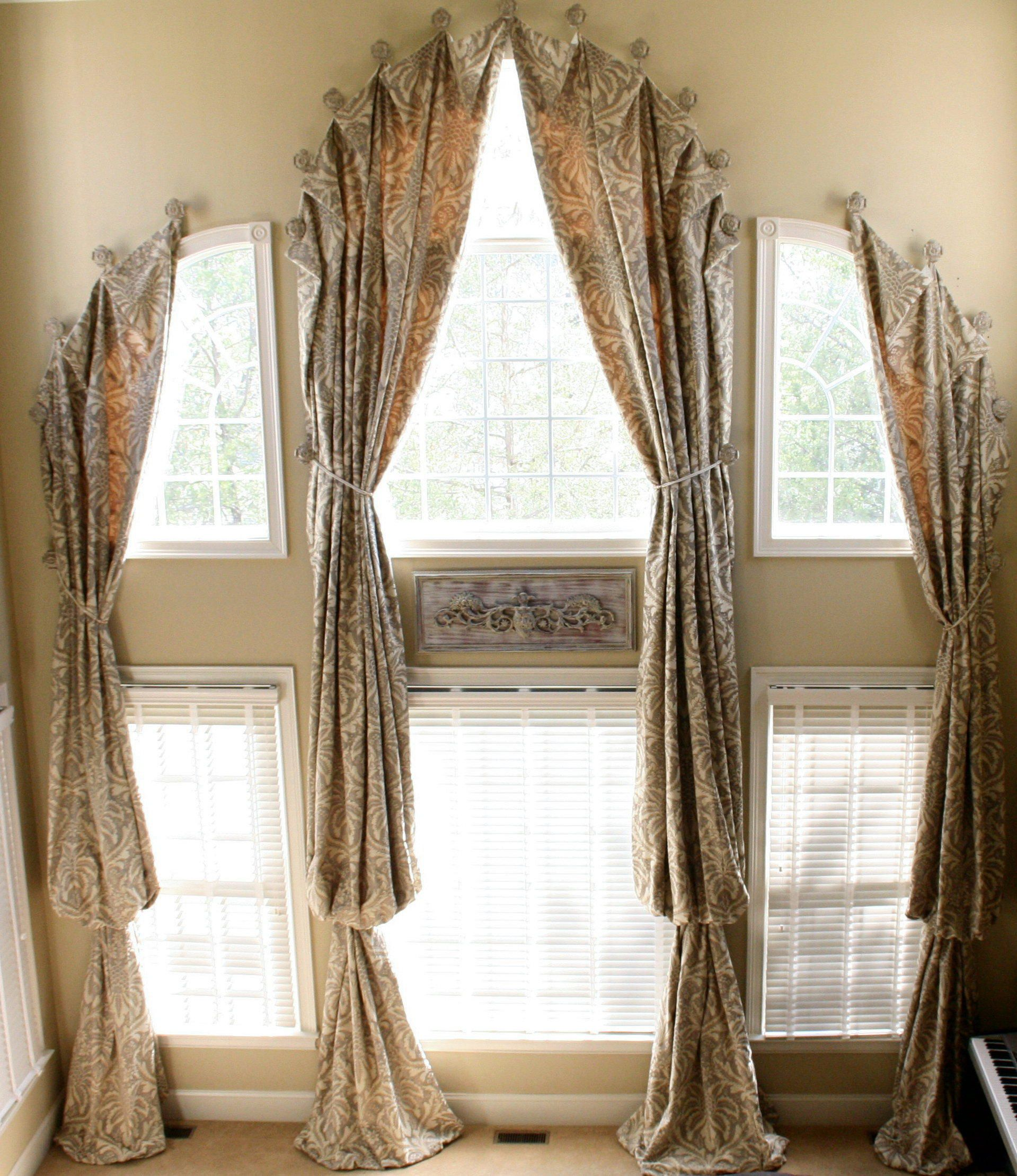 Window treatments for challenging u arched windows curtains