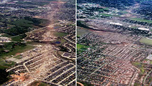 Oklahoma Town Devastated By Tornado Razed Before In 1999 Oklahoma Tornado Tornadoes Tornado Pictures